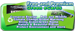 free and premium green ecards